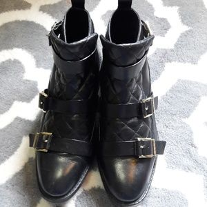 ZARA woman ankle boots leather size 10